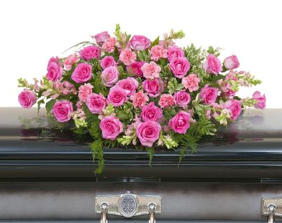 Peaceful Pink Casket Spray - Half