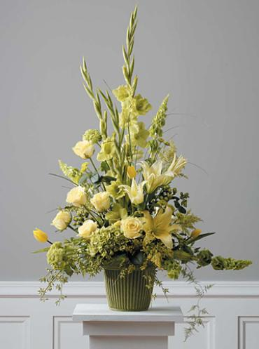 Yellow Mache Arrangement