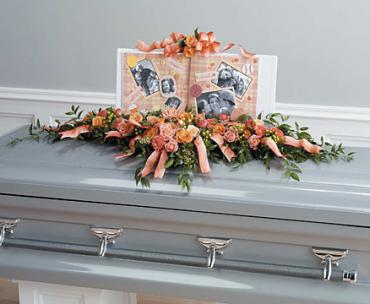 Peach Casket Adornment